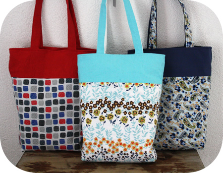 Reversible tote bags - tote bag tutorial