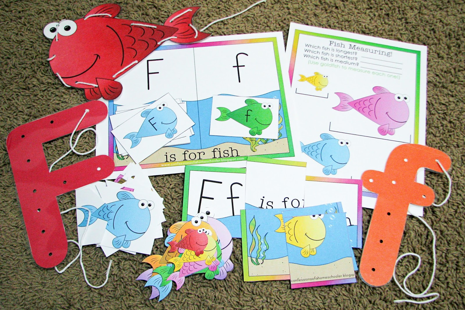 Mommy S Little Helper Letter F Fish Preschool Theme