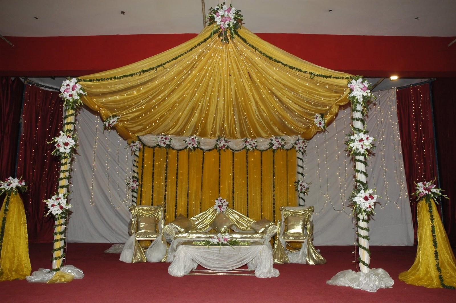 E Holud Or Biye Simple Stage Design Wedding Decoration Ideas