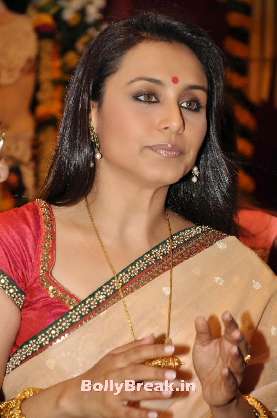 Rani Mukherjee Bengali Saree Hot Slike v visoki ločljivosti - 5 Slike-7204