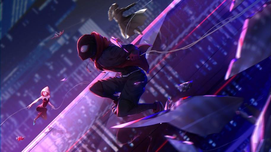 Spider Man Into The Spider Verse Miles Morales 8k Wallpaper 8