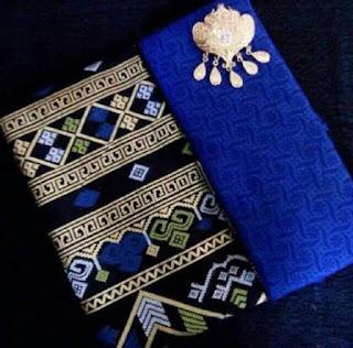 Kain Batik dan Embos 1008 Pekalongan motif Prada Biru
