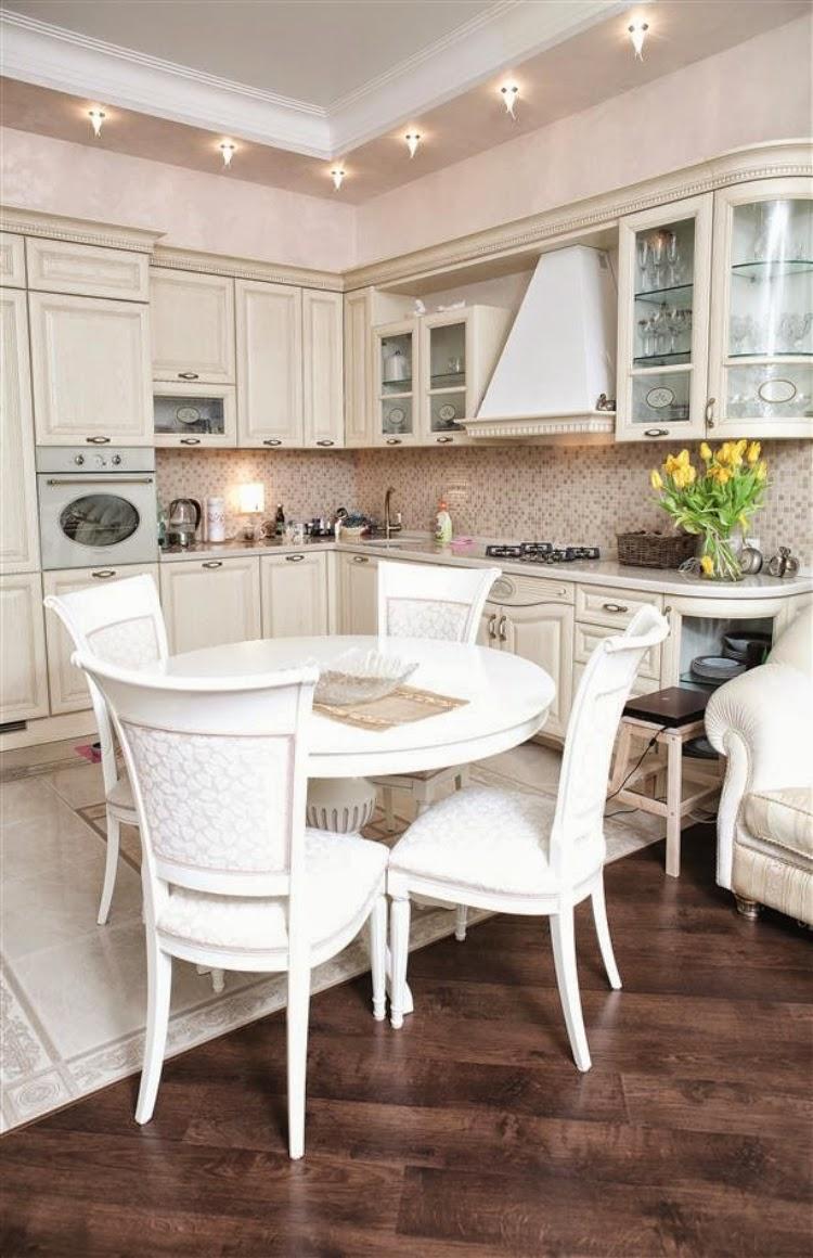 Cocinas con comedores de diario colores en casa for Comedor 2 colores