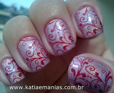 Blant Colors, Bundle Monster, carimbada, Ellen Gold, Holográfico, Nail Plus, Outubro Rosa, rosa,