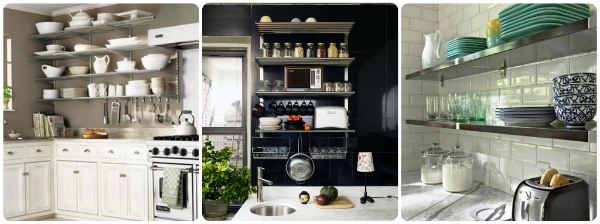 Metal Kitchen Shelf Knifes Storage Racks Lovequilts Open Shelving In The Yay Or Nay