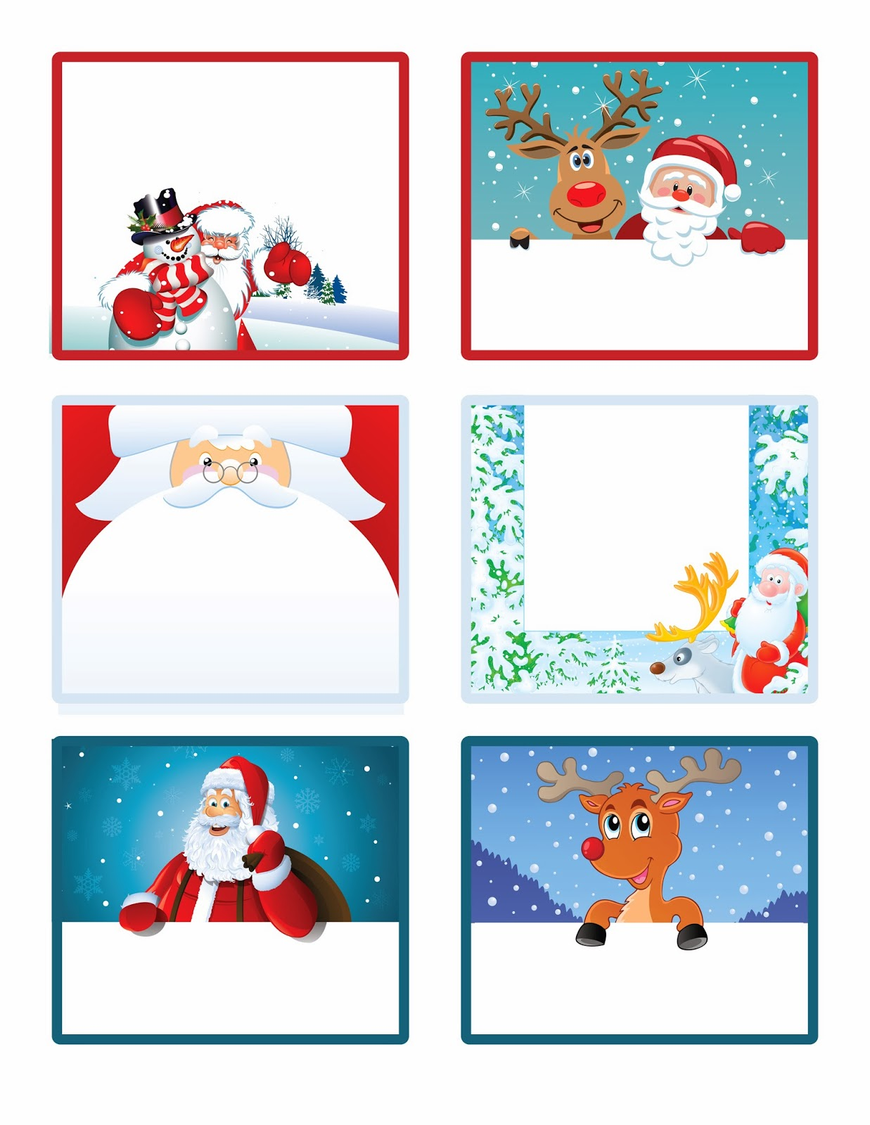 Sweet Christmas Labels Toppers And Tags In Different Styles