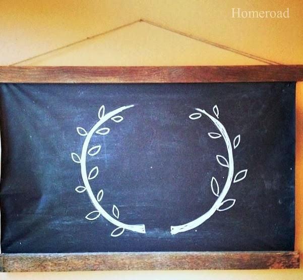 Roller shade chalkboard DIY www.homeroad.net