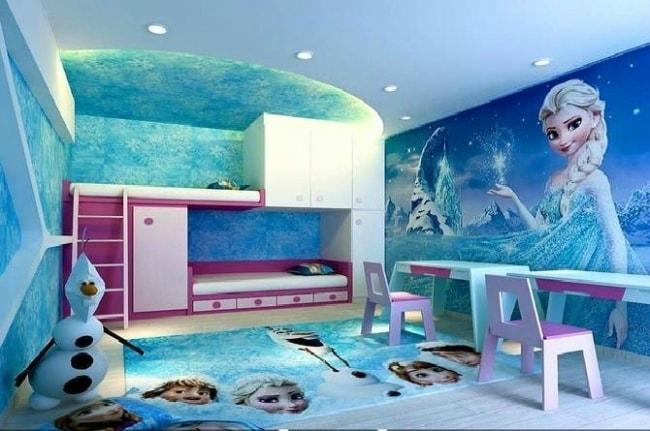 30 Contoh Dekorasi Kamar Tidur Anak Perempuan Bertema Frozen - DISAIN RUMAH KITA
