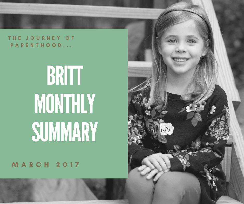 Britt Monthly Summary: March