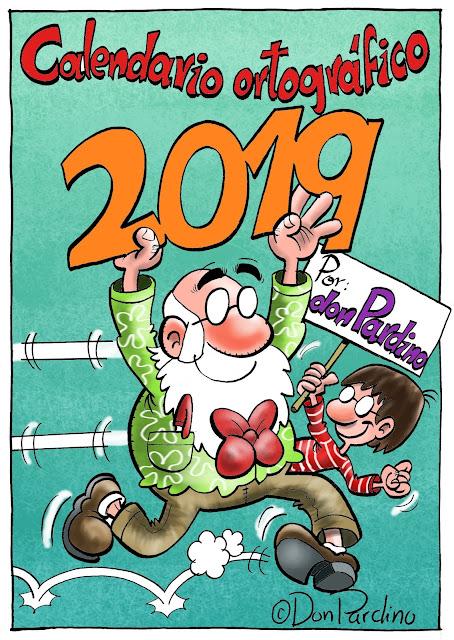 Calendario ortográfico de don Pardino 2019