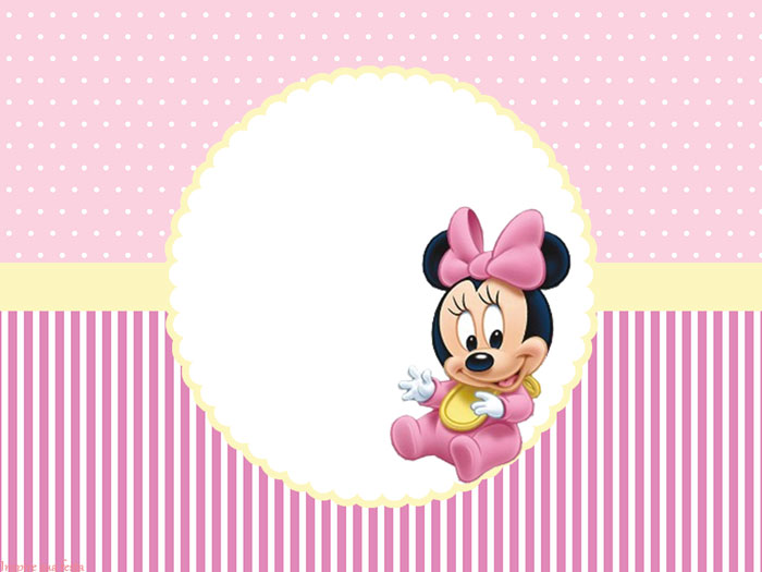Minnie Primer Año Invitaciones Conos Y Cajas Para Imprimir