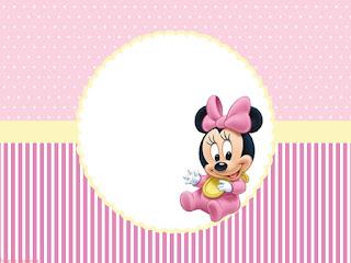 Minnie Primer Año:  Invitaciones, Conos y Cajas para Imprimir Gratis.