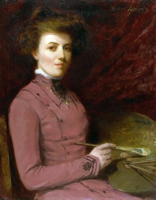 Helen Galloway McNicoll, Self Portrait, Portraits of Painters, Helen Galloway, Fine arts, Portraits of painters blog, Paintings of Helen Galloway, Painter Helen Galloway