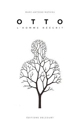 """couverture de """"OTTO, l'HOMME REECRIT"""" de Marc-Antoine Mathieu chez Delcourt"""