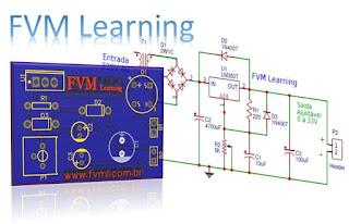 Fonte Ajustável de 1.25 ~ 33V e 3 Amperes com LM350 + PCI