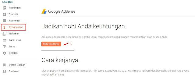 Pendaftaran akun Google AdSense 2020