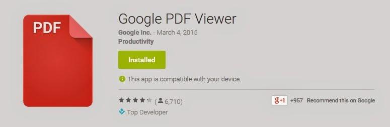 جوجل تطلق تطبيق لقراءة ملفات PDF تحميل تطبيق Google PDF Viewer