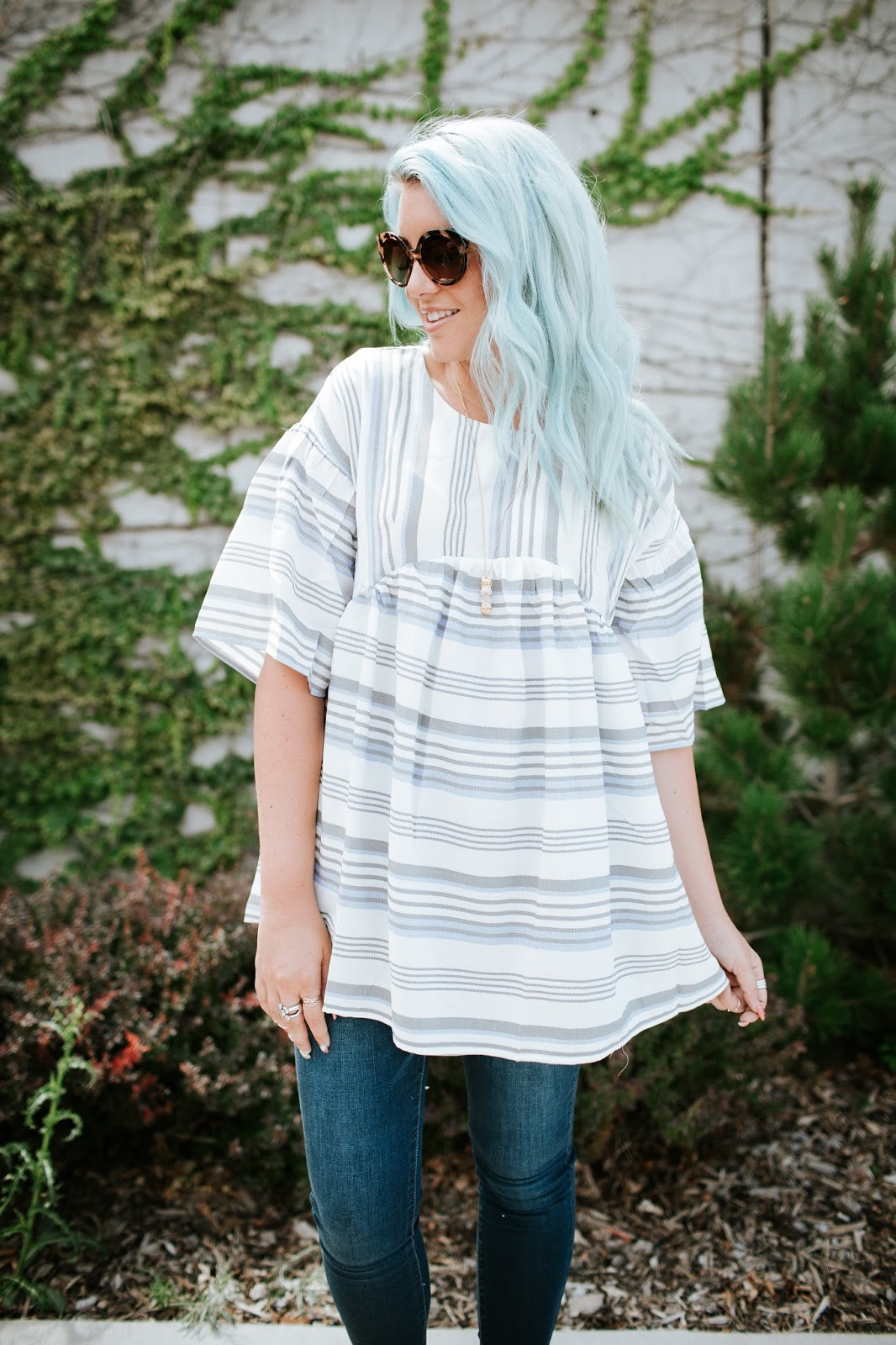 Babydoll Tunic, SeneGence, Striped Top