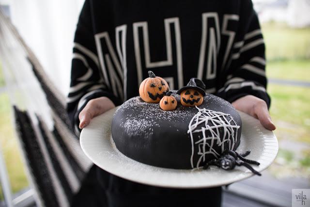 leivonta, halloween, kakku