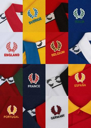 colección de camisetas Fred Perry Country Shirt para animar las selecciones de fútbol Eurocopa 2016
