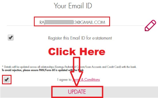 how to update email id in axis bank internet banking