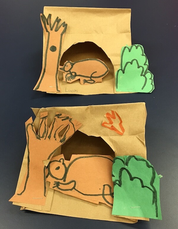 Bear caves by 1st Grade students
