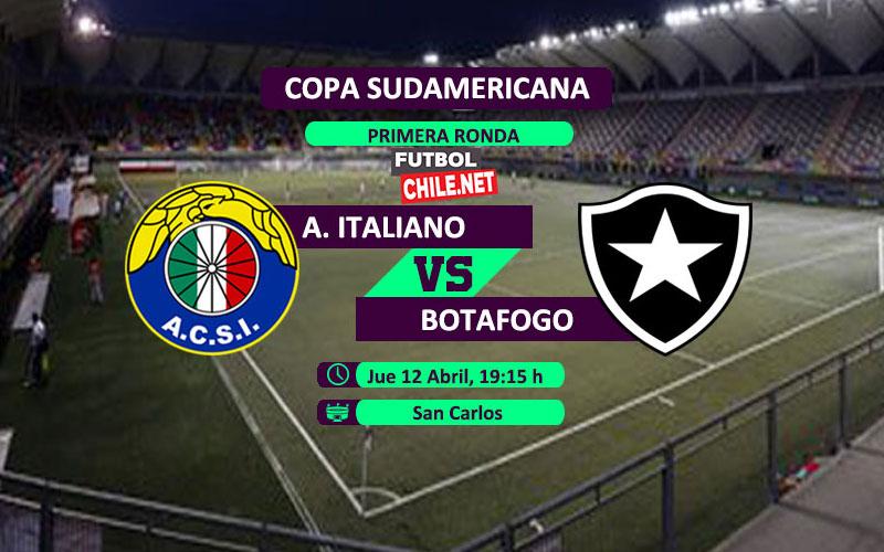 Audax Italiano perdió de local 1-2 contra Botafogo en su estreno en la primera roda ida de la Copa Sudamericana 2018