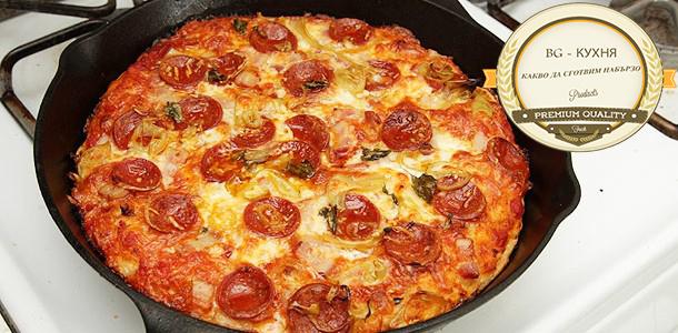 Бърза пица на тиган