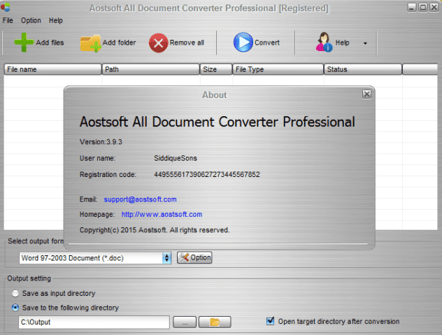 Aostsoft , Document Converter