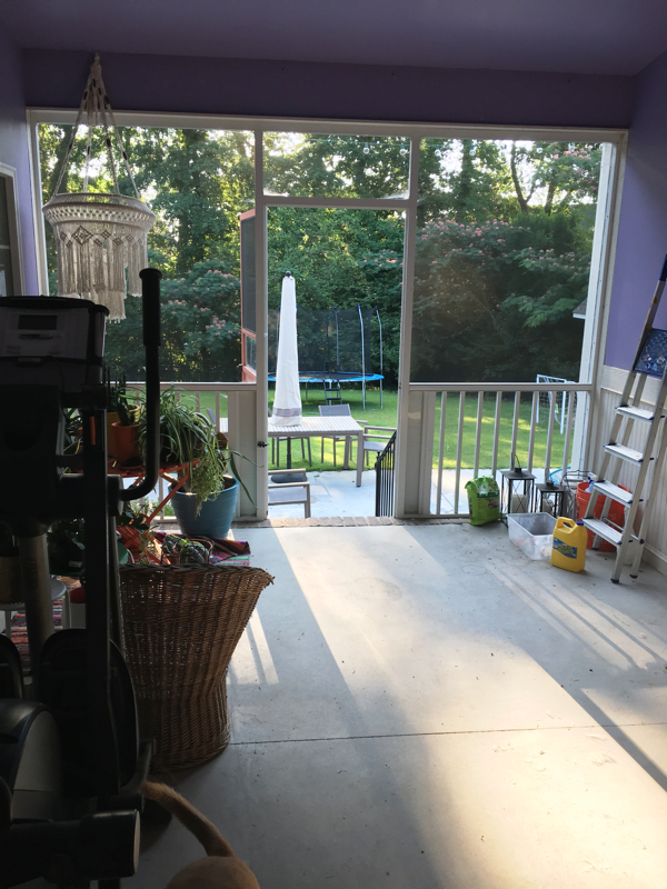 Our Screened in Porch Gets a Makeover- before pic- design addict mom