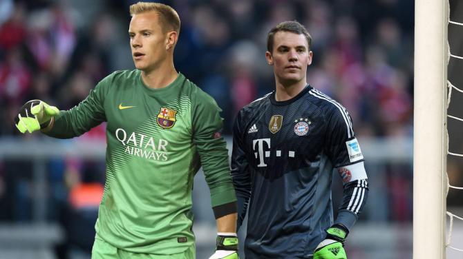 Ter Stegen vs Neuer en el Barcelona vs Bayern