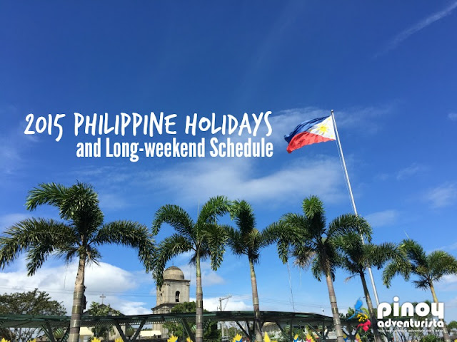 2015 Philippine Holidays and Long-weekend Schedule