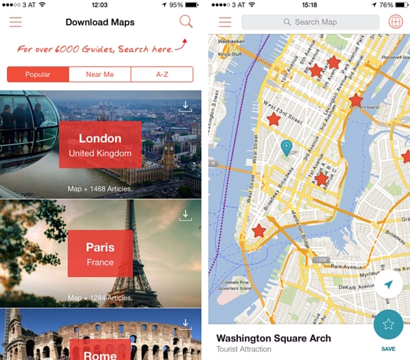 City Maps 2 Go travel app