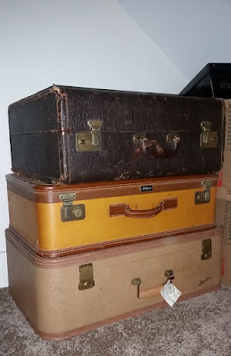 keepsake storage using vintage suitcases