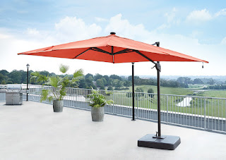 orange cantilever umbrella