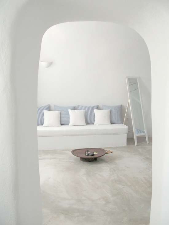 Cave house in Santorini by Irene Yan. #white #santorini