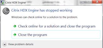 Citrix HDX Engine Crash with SAP
