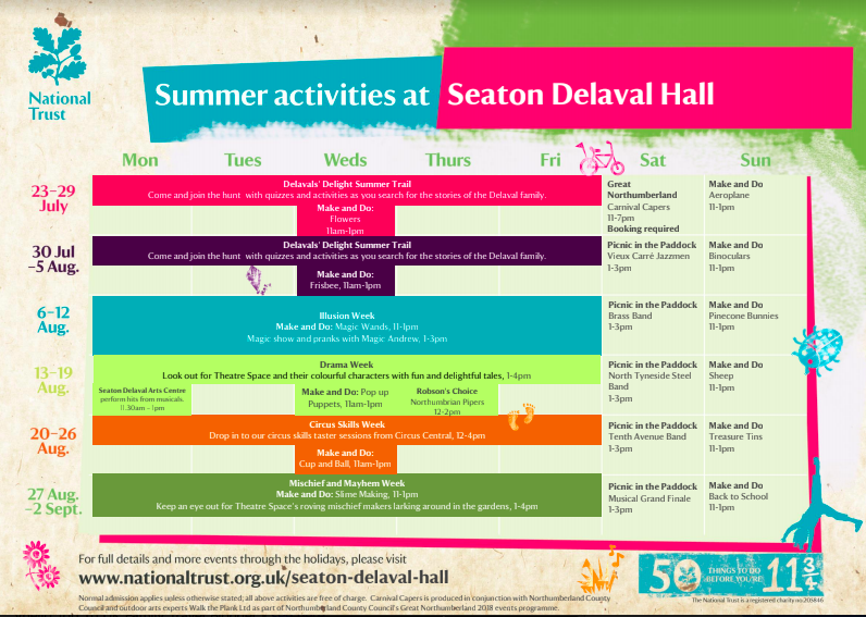 10 Reasons to Visit Seaton Delaval Hall  - summer events