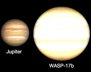 Comparación tamaño WASP-17b y Júpiter