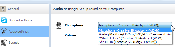 Skype Audio Setting step 2