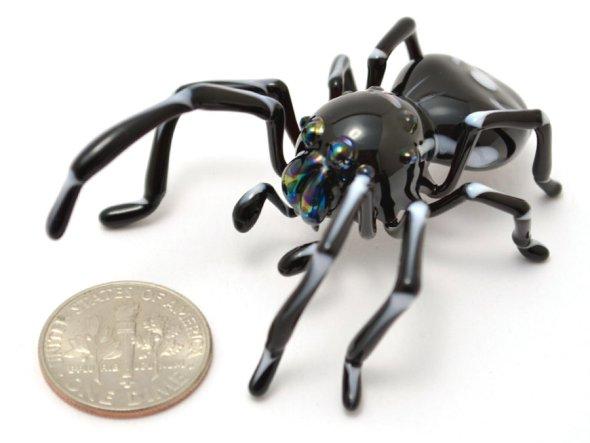Wesley Fleming esculturas de vidro insetos natureza tamanho pequenos anatomia natural