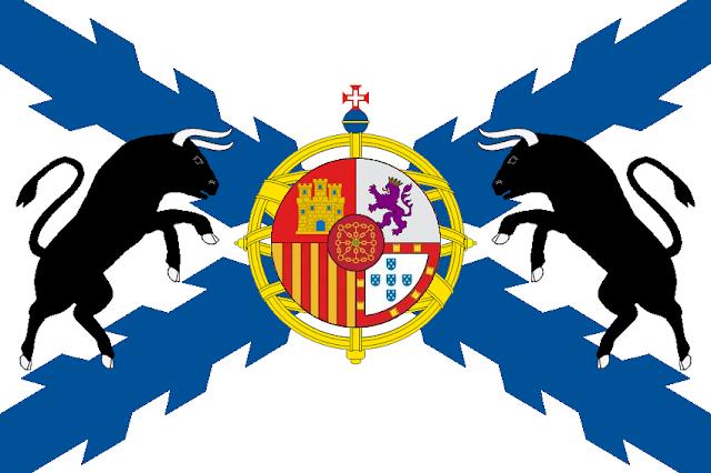 Bandera del Estado Ibérico diseñada por Cabeleira Santoro