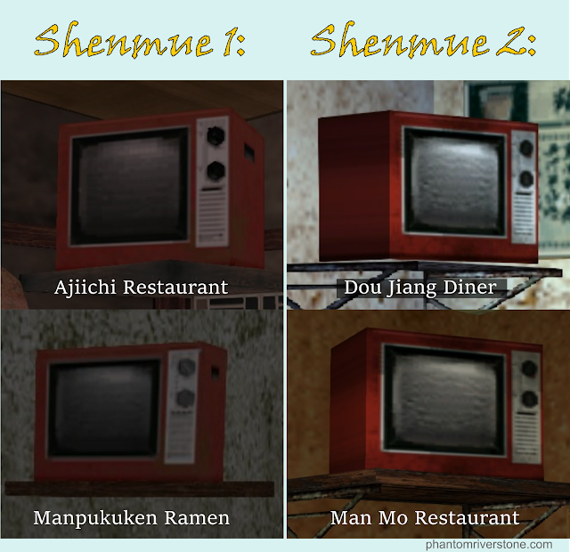 The Old Red TV in Shenmue 1 and 2.