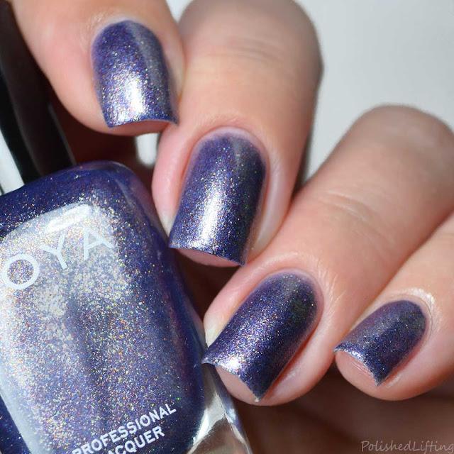 blue foil nail polish