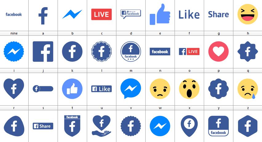Download Font Facebook Color font ttf otf 2019 elharrak fonts font logos facebook font icons facebook