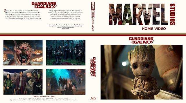 Guardians of the Galaxy Vol. 2 Bluray Cover