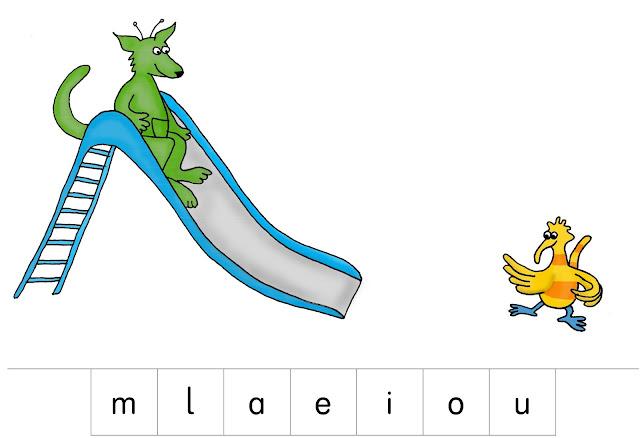 Silbenrutsche nach Kribu, 1. Klasse Grundschule