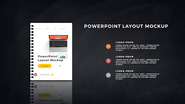 Infographic Spiral Book PowerPoint Mockup Template Slide 8