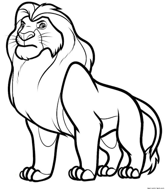 Lion King  Book Colouring Pages