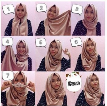 Tutorial Hijab Pashmina Satin